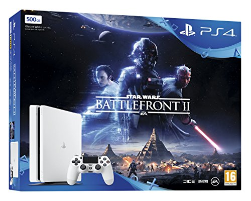 PS4 500 GB White Star Wars Battlefront II Bundle