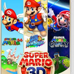 Play three of Mario's greatest 3D platforming adventures—all in one package! Play three iconic games at home or on the go—all in one package on the Nintendo Switch system! Jump into paintings in Super Mario 64, clean up paint-like goop in Super Mario Sunshine, and fly from planet to planet in Super Mario Galaxy. Run, jump, and dive with ease! Make Mario move using the Nintendo Switch system's Joy-Con controllers. You can also pass a Joy-Con controller to a friend to play the Super Mario Galaxy game in Co-Star Mode! Mario's movements are as smooth as ever with HD resolution for each game, while still retaining the look and feel of the originals. Listen to timeless Super Mario tunes Listen to a total of 175 iconic tunes from all three games! Whether you want to get up and dance or take a minute to relax—this collection has music to fit your mood! Even when you aren't playing, you can enjoy the sounds that these worlds (and galaxies!) are so famous for. With three games, modern upgrades, and music-player mode, this collection is filled with fun for both new players and 3D platforming Mario masters. Super Mario 3D All-Stars will be available as a limited-run retail edition and a digital edition that is available for a limited time until the end of March 2021. The physical version of Super Mario 3D All-Stars (released Sep. 18) will continue to be shipped to retailers and available for purchase through March 31, 2021 or while supplies last. The digital version of Super Mario 3D All-Stars will be available for purchase through March 31, 2021. Once the digital edition has been purchased on your Nintendo Account, it can be re-downloaded and played if deleted from your device. Software compatibility and play experience may differ on Nintendo Switch Lite. Additional accessories may be required (sold separately). Terms apply.